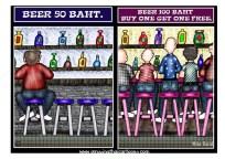 grappig Thai cartoon bar