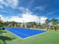 tennis at the pool villa