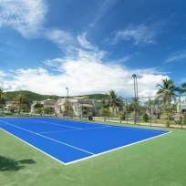tennis at the pool villa