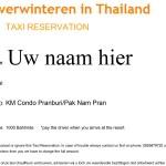 Luchthaven taxi reserveren