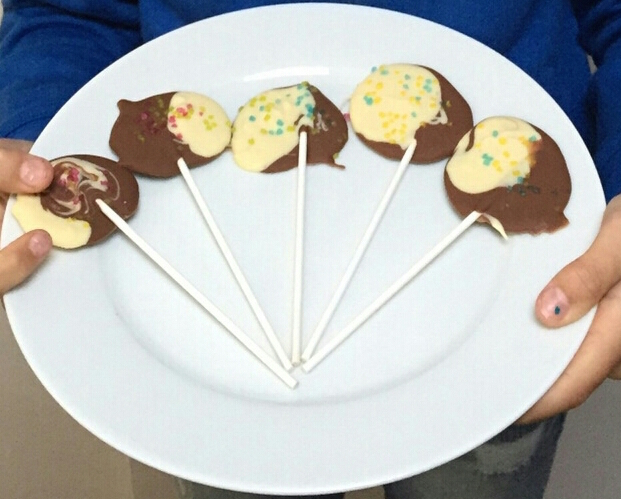 Chocoladelollies