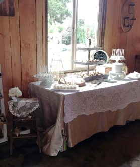 Barn Interior Dessert Table