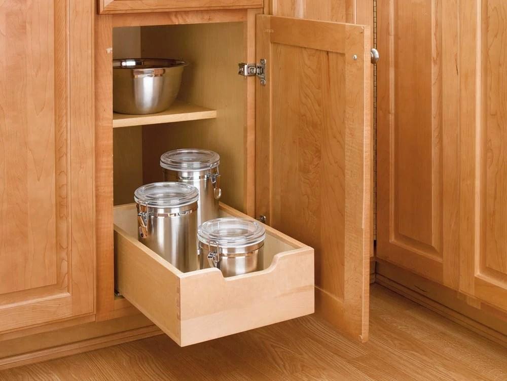 12 inch Wood PullOut Shelf 4WDB12