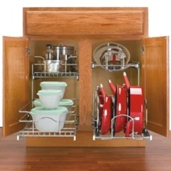 Two Tier Kitchen Drawer Organizer Value City Tables Cookware Organizers, Pot & Pan By Rev-a-shelf