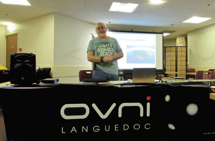 Conférence de Luc Chastan aux R.U.O.L. (Rencontres Ufologiques d'OVNI-Languedoc)  de Pérols (Hérault): «Les OVNIS à La Réunion».