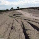 Geólogo: Estes rastros são de veículos de 14 milhões de anos atrás 14