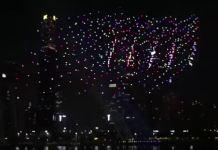 espetáculo no céu da China