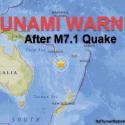 Mais um grande terremoto ocorre em agosto. Desta vez M7,1 na Nova Caledônia 2