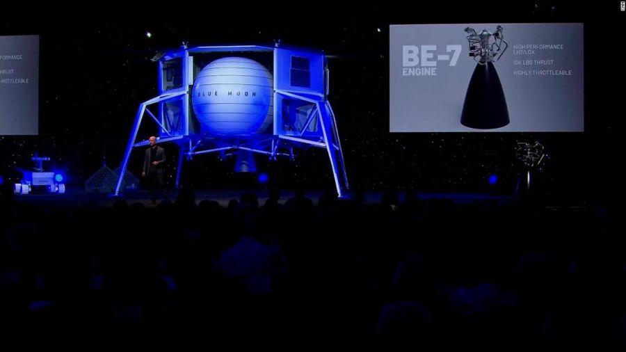 Homem mais rico do mundo acaba de desvendar módulo de pouso lunar da Blue Origin