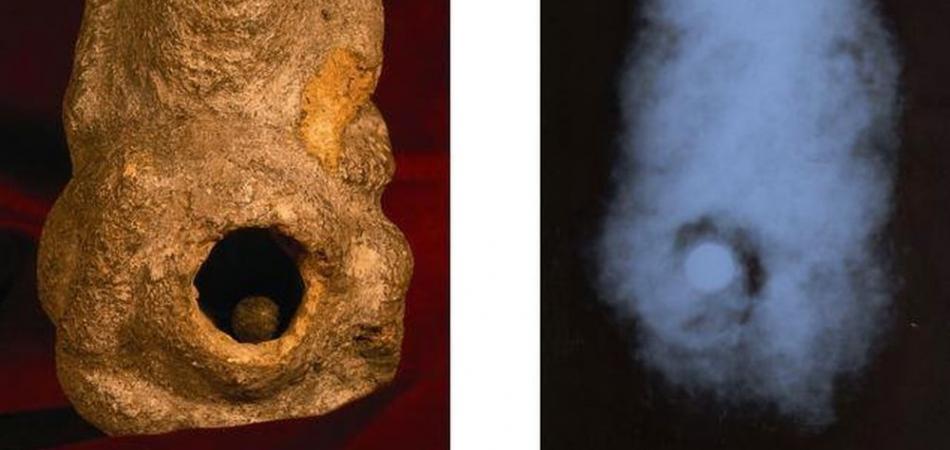 Estátuas de lagartos humanos de 19.000 anos, contêm esferas perfeitas de aço