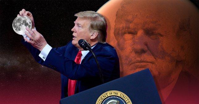 Trump diz que a NASA deve parar de falar sobre a Lua