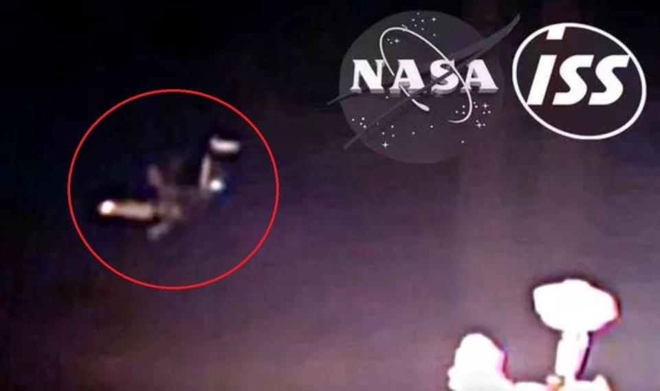 OVNI extraordinário é filmado perto da Estação Espacial Internacional
