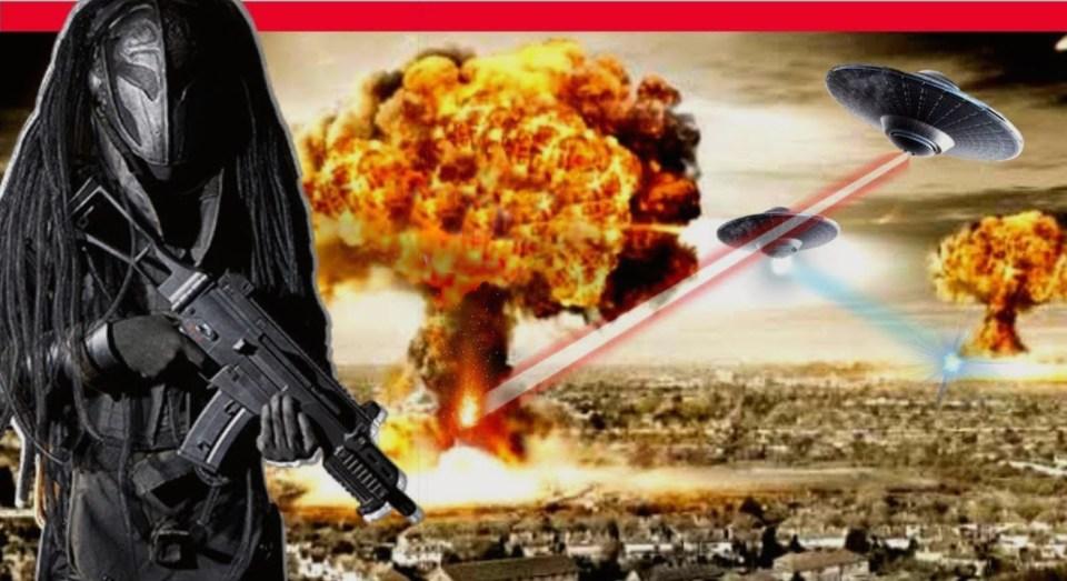 Extraterrestres versus armamentos nucleares da Terra