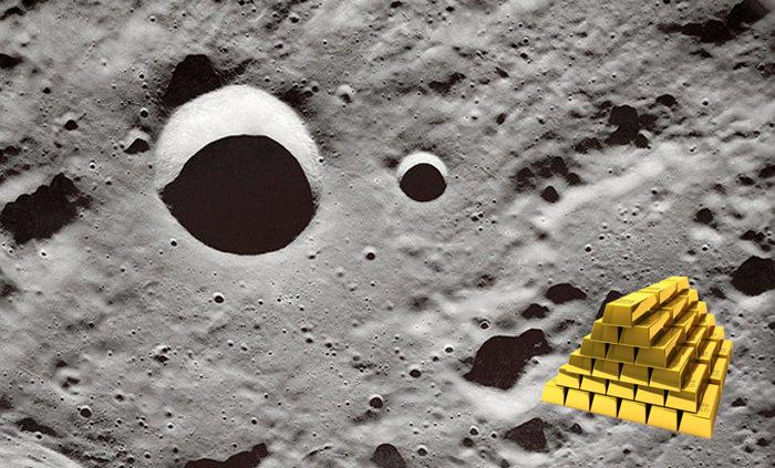 Metais preciosos podem ser encontrados logo abaixo da superfície da Lua