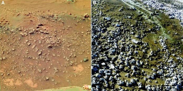 Evidencias de antiga fonte termal são encontradas em Marte