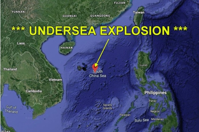 Possível explosão nuclear é detectada no Mar da China