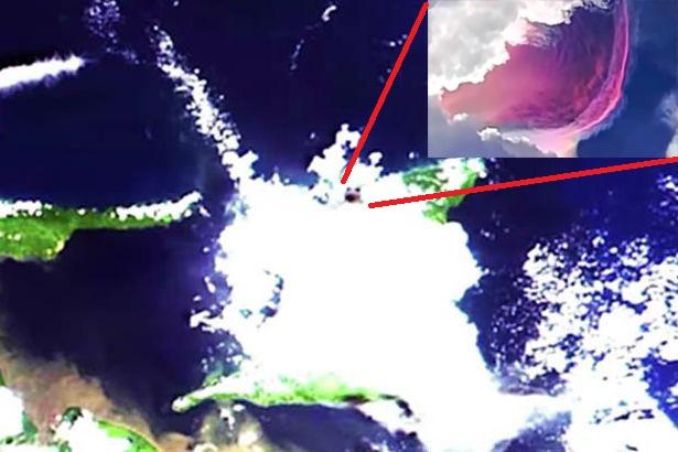 Enorme anomalia roxa que provocou medos apocalípticos pôde ser vista do espaço