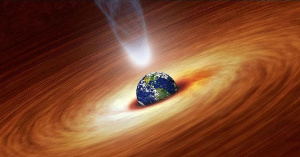 Veja o que aconteceria se a Terra caísse num buraco negro