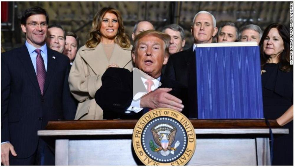 Trump assina a criação da Força Espacial dos Estados Unidos
