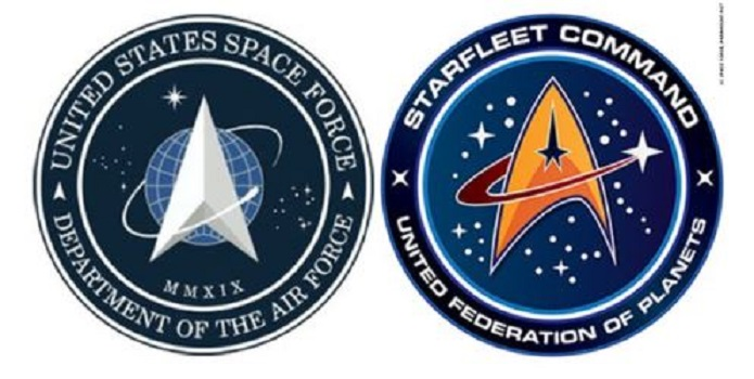 Logotipo da nova Força Espacial é similar ao da Star Trek - coincidência?