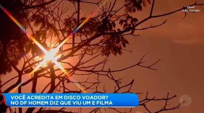 OVNI é filmado cruzando o céu de Brasília