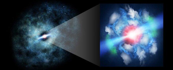 Enormes jatos de buraco negro do universo primitivo são observados