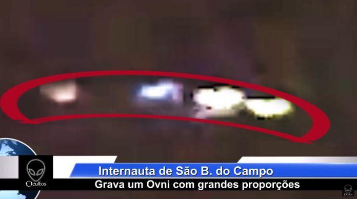 Enorme OVNI é filmado em São Bernardo do Campo, Brasil