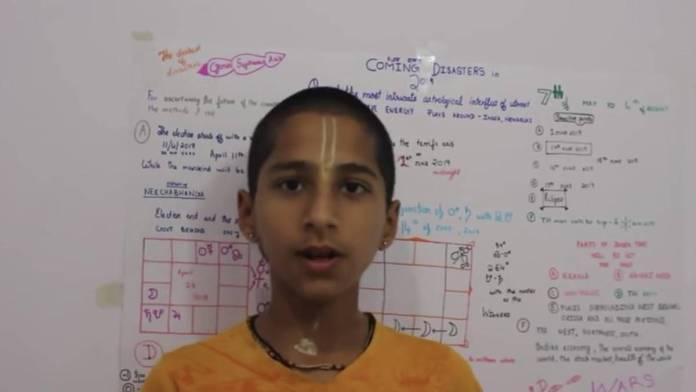 Menino indiano que previu a pandemia prevê algo terrível à frente