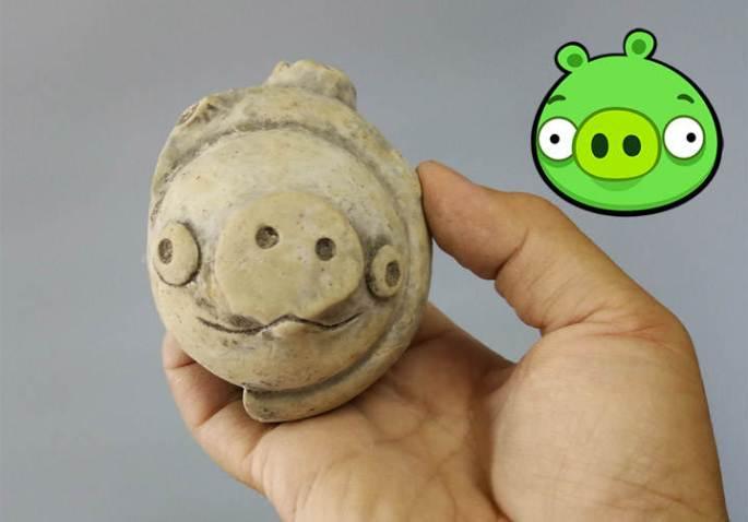 Estatueta de 5.000 anos encontrada na China se parece com o porco do Angry Birds