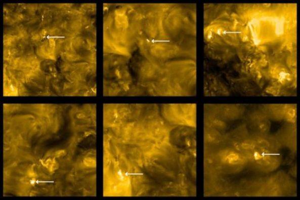 """As imagens mais próximas do Sol já obtidas revelam """"fogueiras"""""""