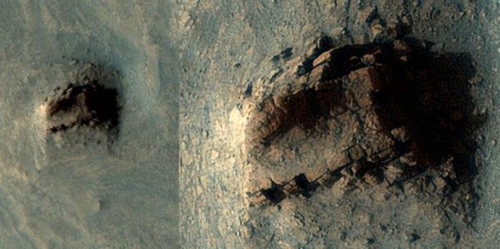 Seria esta uma ruína antiga em Marte, ou somente uma formação natural?