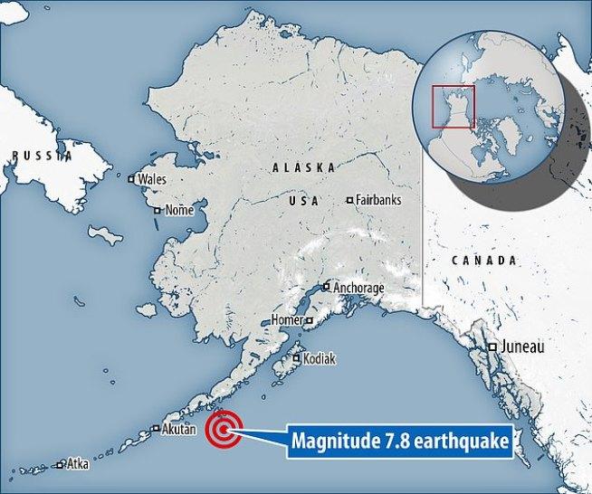 Forte terremoto (7,8) atinge o Alasca, EUA