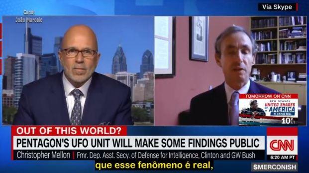 CNN entrevista Christopher Mellon a respeito dos OVNIs (vídeo legendado)