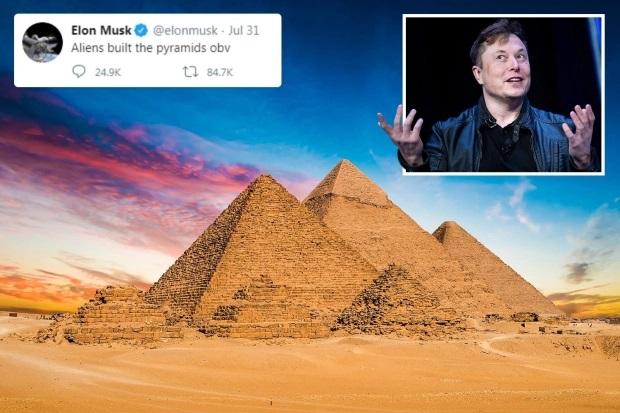 """""""Alienígenas construíram as pirâmides"""", tuitou Elon Musk - Egípcios não gostaram"""