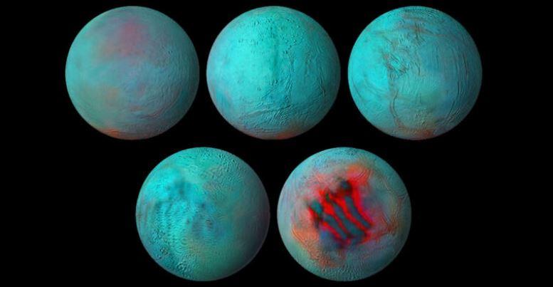 """NASA encontra evidências de """"gelo fresco"""" na lua Encélado de Saturno"""