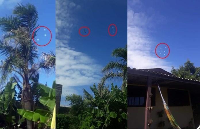 OVNIs são fotografados em Sidrolândia, MS - Brasil