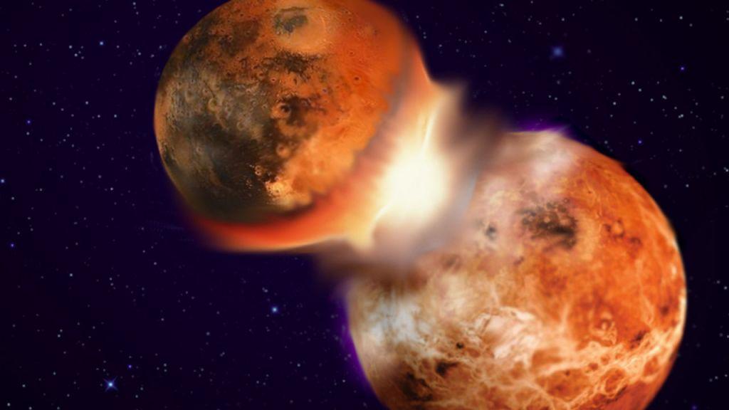 Parece haver um grande pedaço de um antigo planeta dentro da terra
