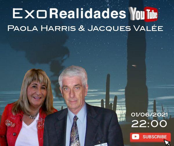 Paola Harris e Dr. Jacques Vallée serão entrevistados