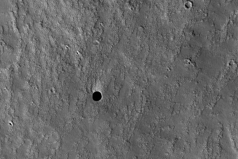 Entradas de cavernas em Marte podem oferecer escudo de radiação amigo da vida