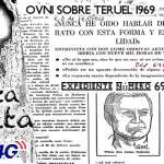 Un OVNI en vuelo Palma Madrid Expediente ovni en Teruel 1969