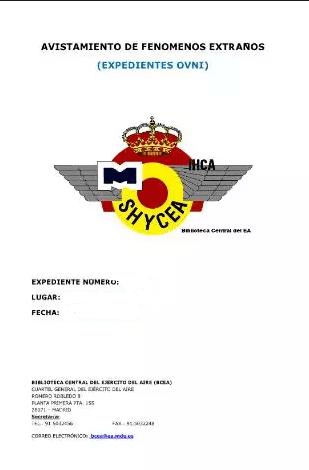 Expediente Ovni 1974-1992 Avistamientos en Canarias Varias Zonas y Fechas
