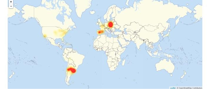 El mapa de la caída de Google