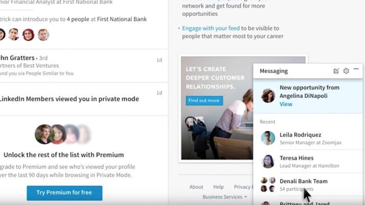 Messenger LinkedIn