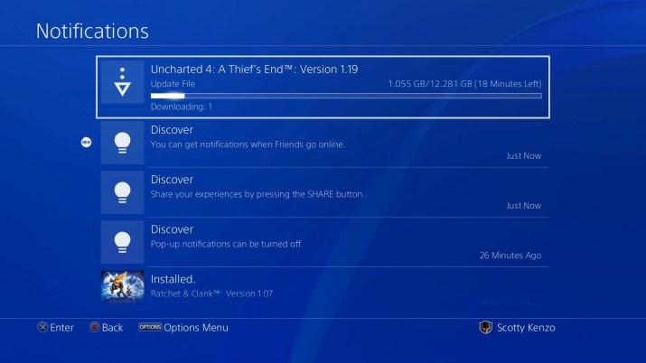 Notificaciones PS4