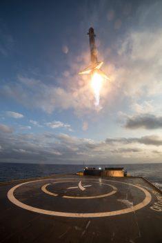 Aterrizaje Falcon 9 1