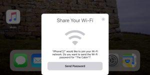 share-wifi iOS 11