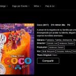 Coco, disponible en Claro Video
