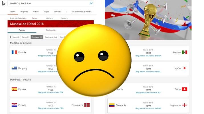 Predicciones Bing Mundial 2018