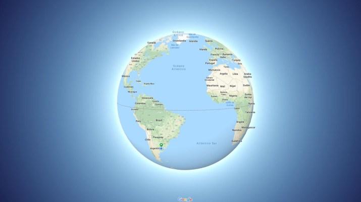 Google Maps Globo 3D