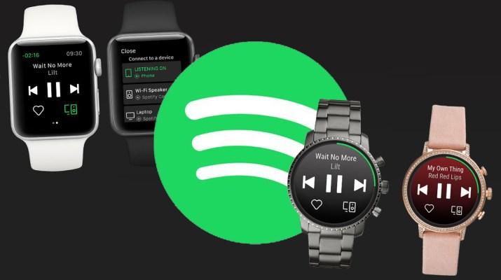 Spotify Apple Watch Wear OS